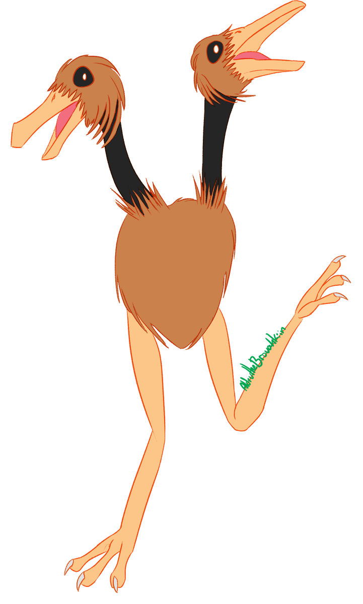 ostrich clipart draw something