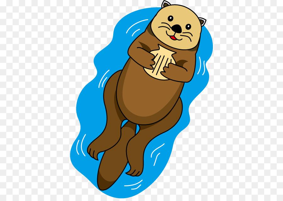 Sea north american river. Otter clipart