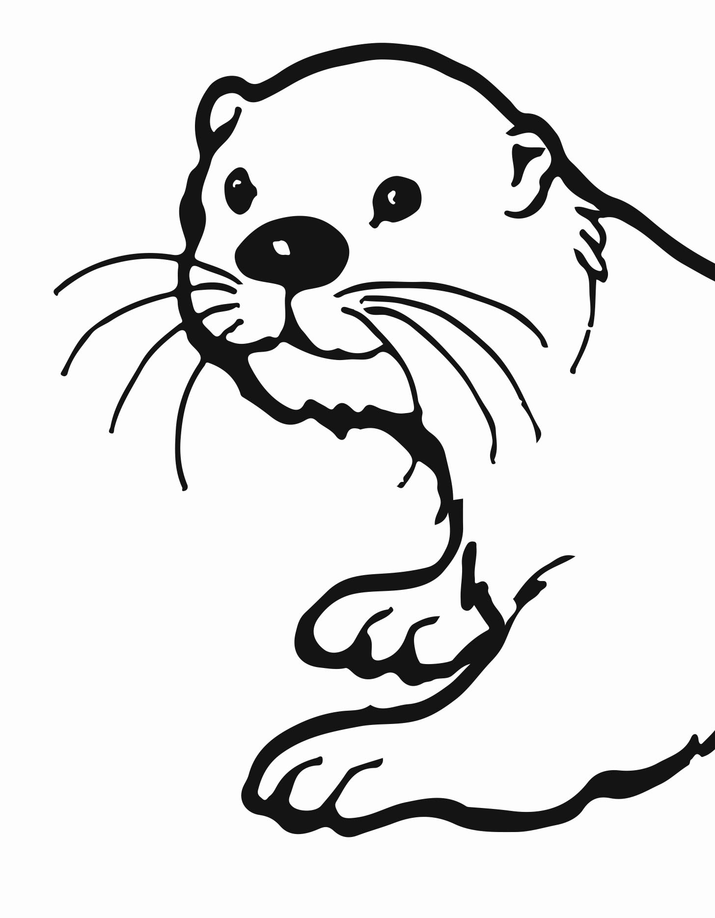 Otter clipart. River free printable download