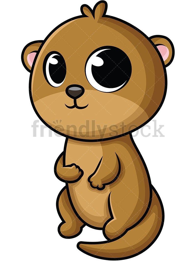 Baby animals otters cartoon. Otter clipart animated