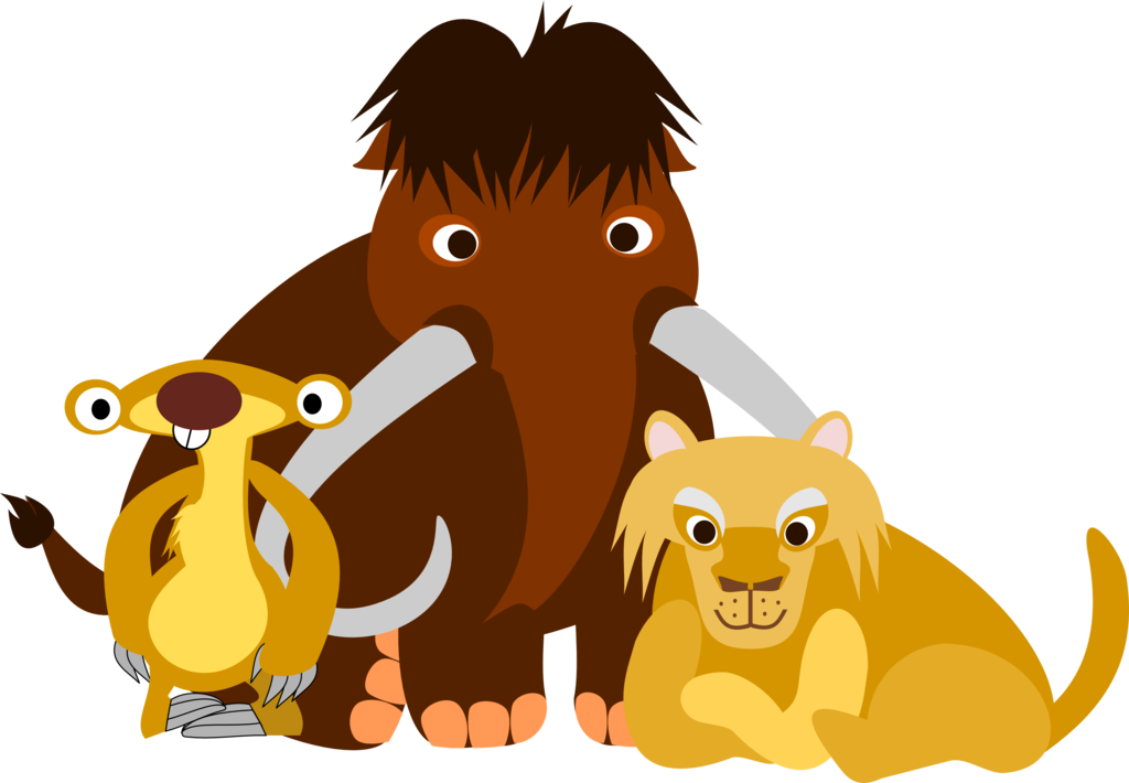 Otter clipart ice age. Sid manny and diego