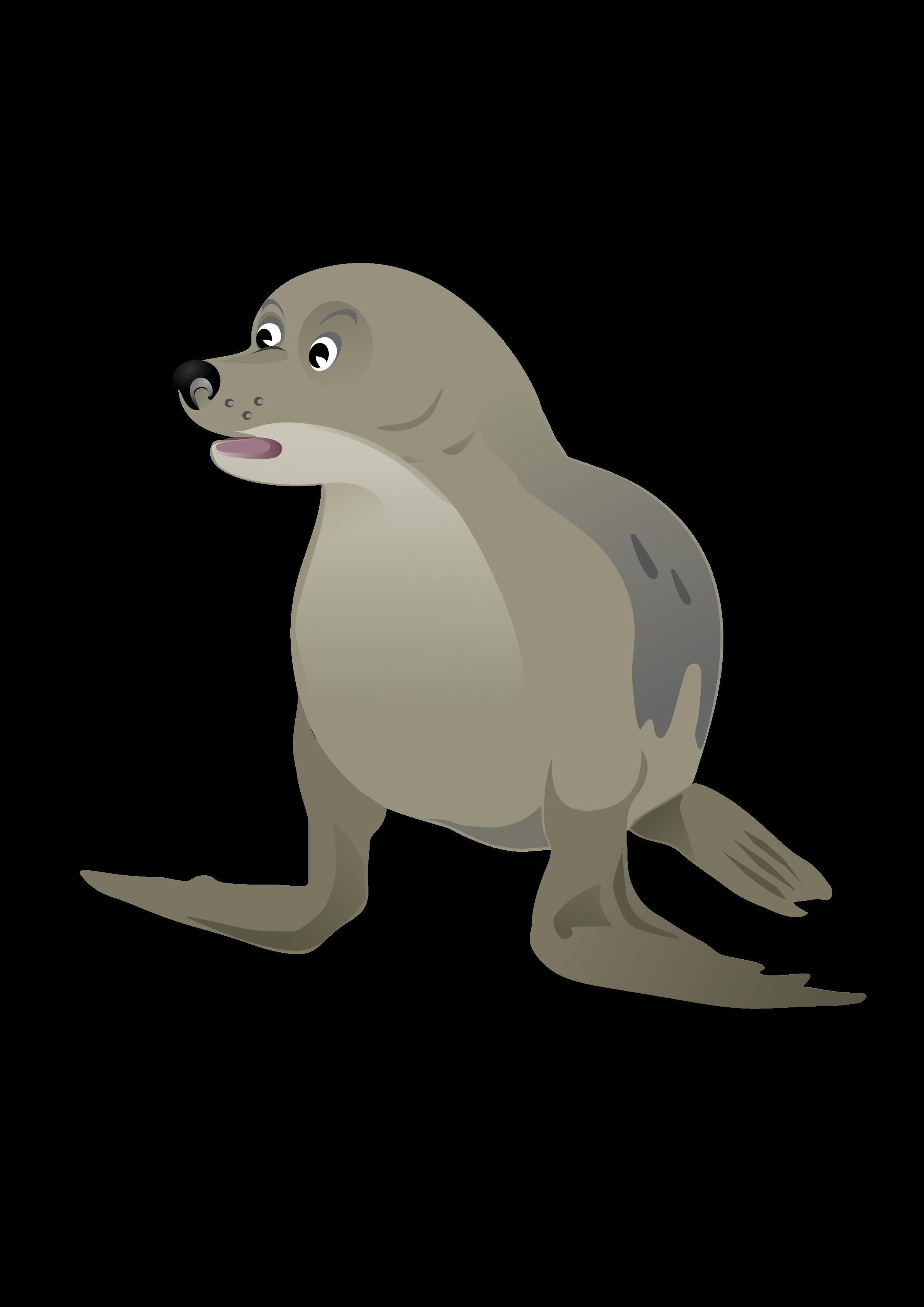Seal clipart sea otter. Grey big image png