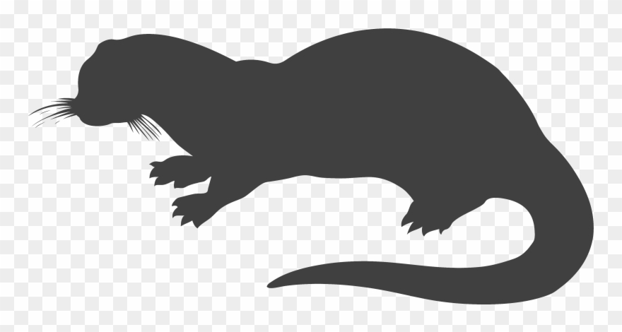 Silhouette of pinclipart . Otter clipart nutria