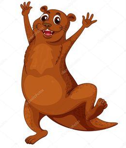 Download a color para. Otter clipart nutria
