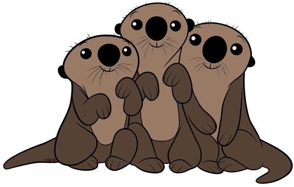 Otter clipart sea disney. Pin on otters