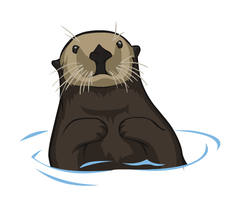 Seal clipart sea otter. Png mart