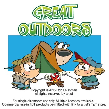 Outdoors clipart. The great cartoon by