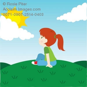 Outdoors clipart. Clip art illustration of
