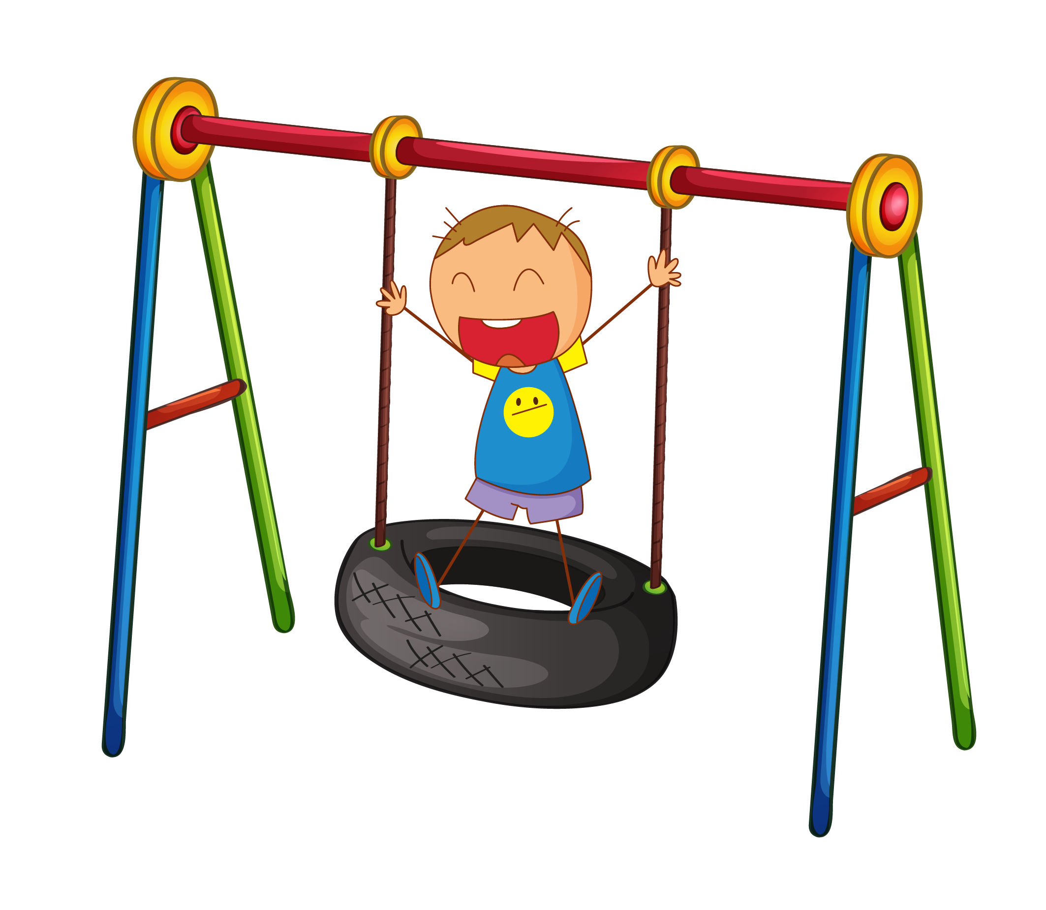 Car tire swing clip. Play clipart out door
