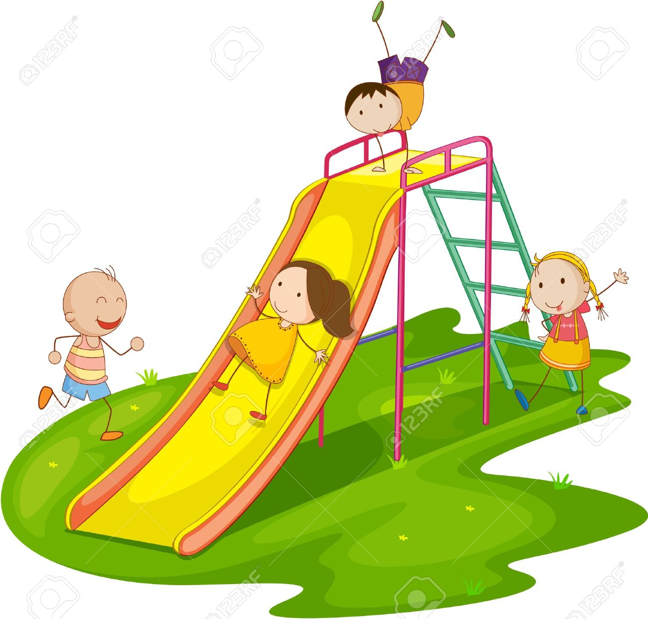 Children playing free download. Outside clipart childrens park