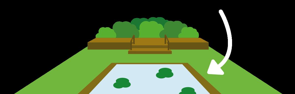 Creative gardening ideas railway. Outdoors clipart strip grass
