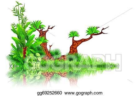 Stock exotic illustration gg. Swamp clipart vector