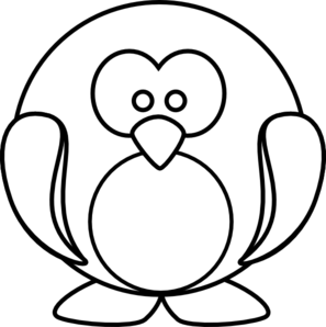 Outline clipart. Penguin clip art at