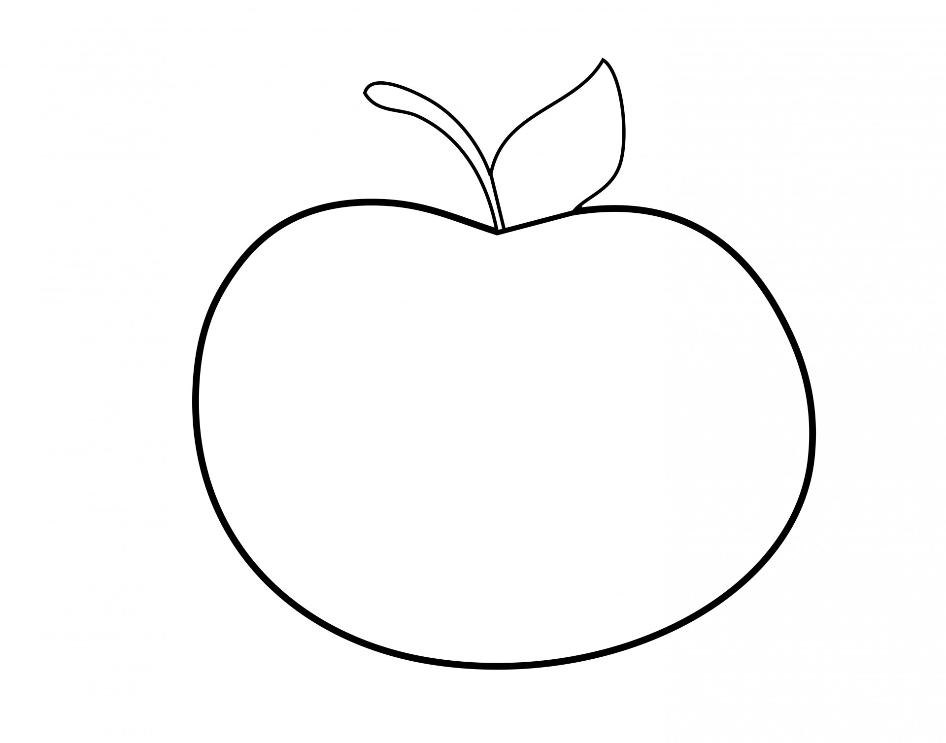 Apple free stock photo. Outline clipart