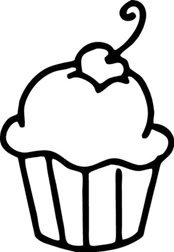 Outline clipart. Cupcake cupcakes and cashmere
