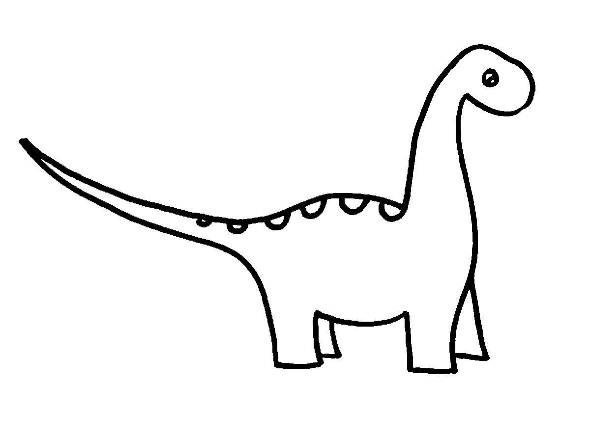 Dinosaur . Outline clipart