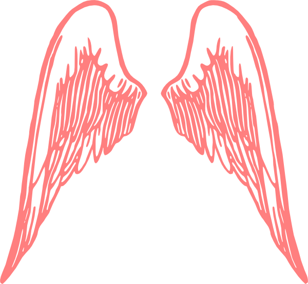 Red angel wings clip. Wing clipart vector