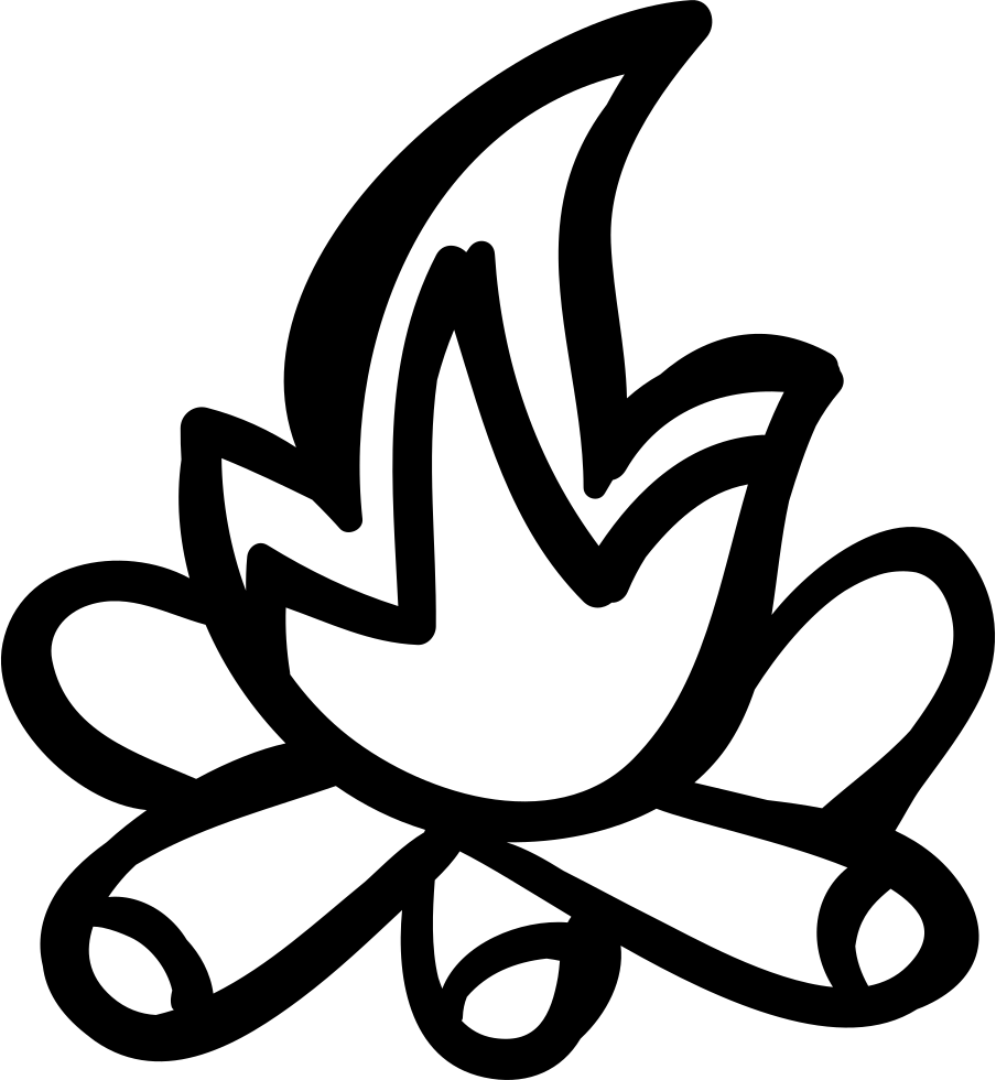 Outline clipart fire. Svg png icon free