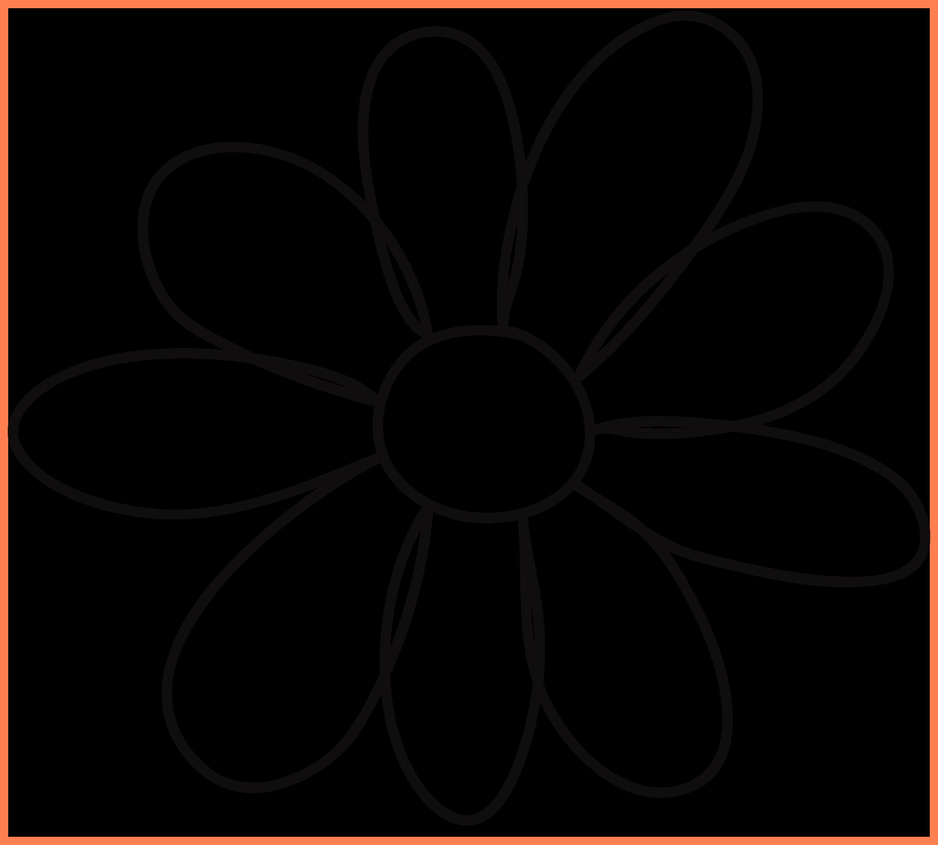 Best petal template quilting. Outline clipart flower