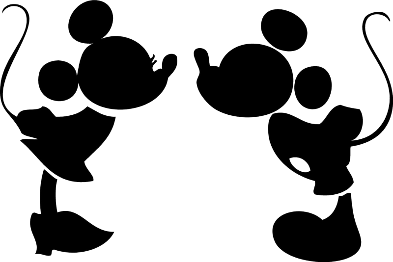 Outline clipart mickey mouse. Head silhouette clip art
