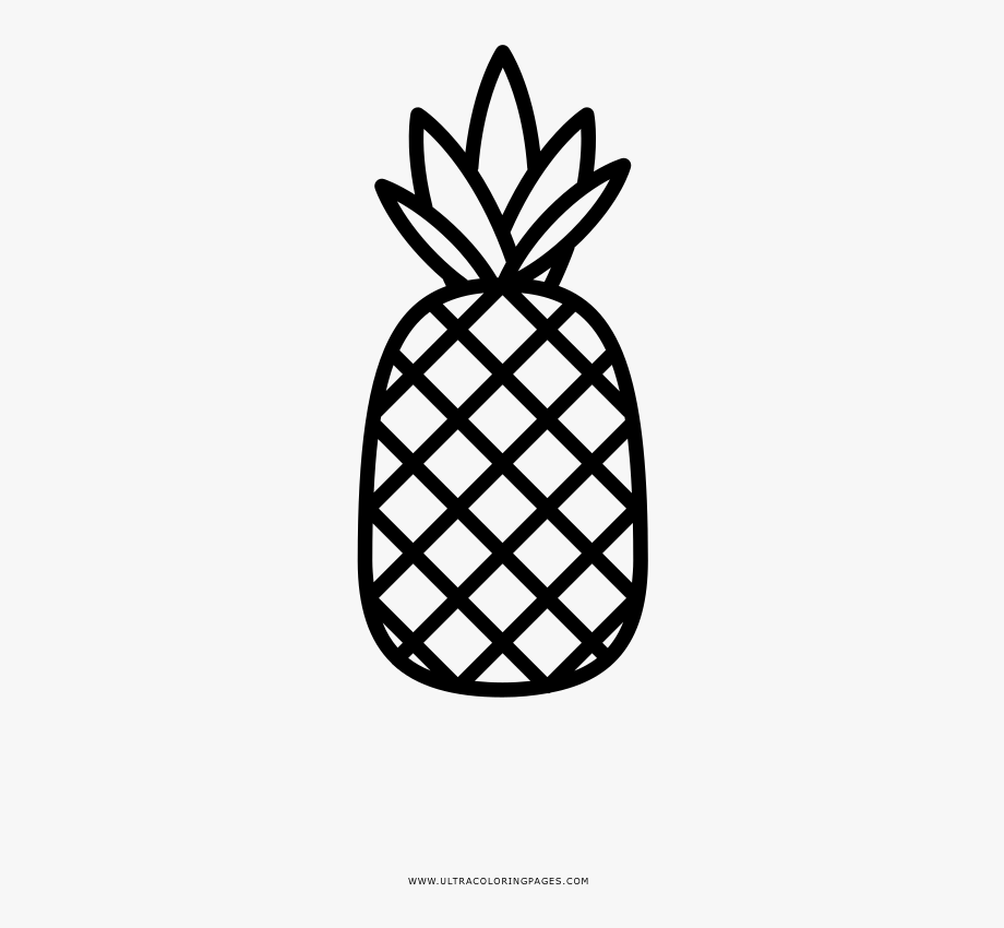 Coloring . Pineapple clipart outline