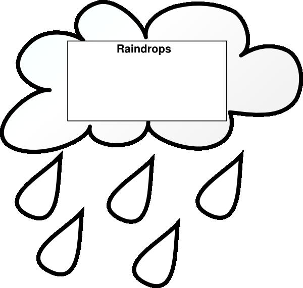 Raindrop clipart outline. Raindrops clip art at