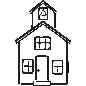 Schoolhouse clipart outline. School house wikiclipart