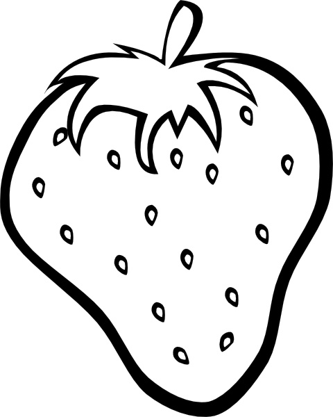 Outline strawberry clip free. Strawberries clipart line art