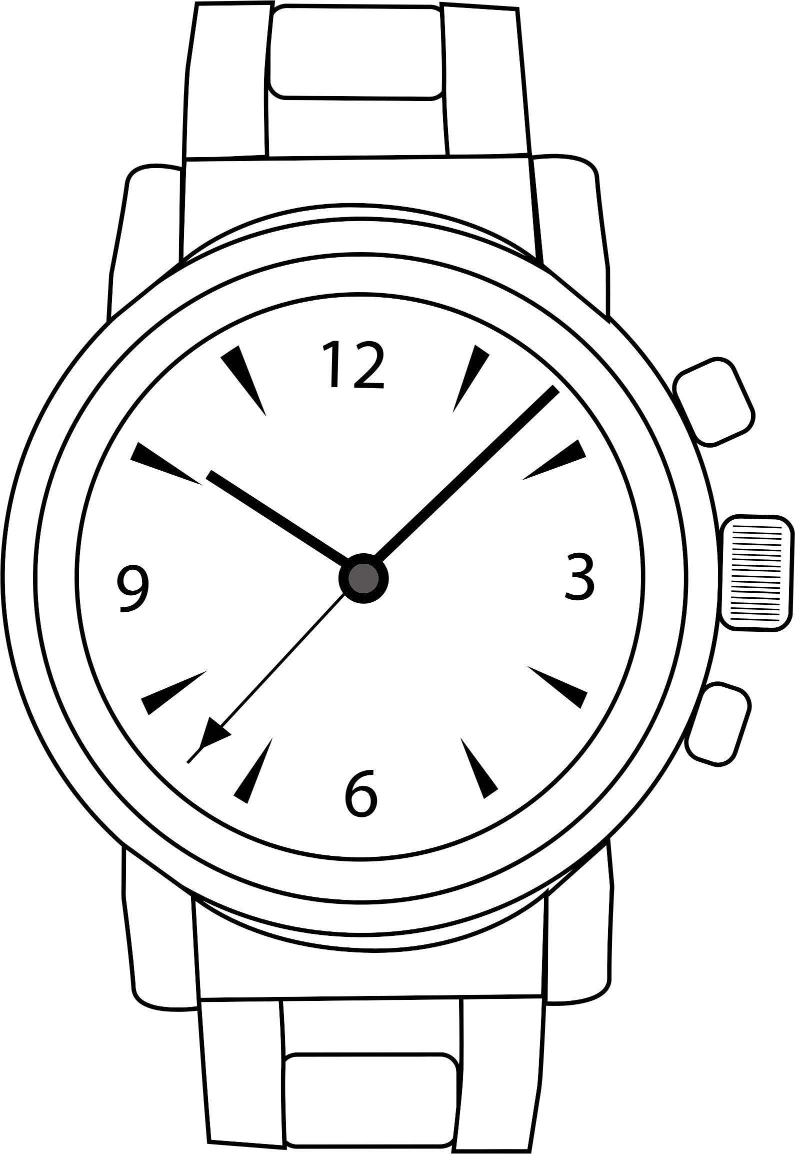 See clipart watch line.  collection of wrist