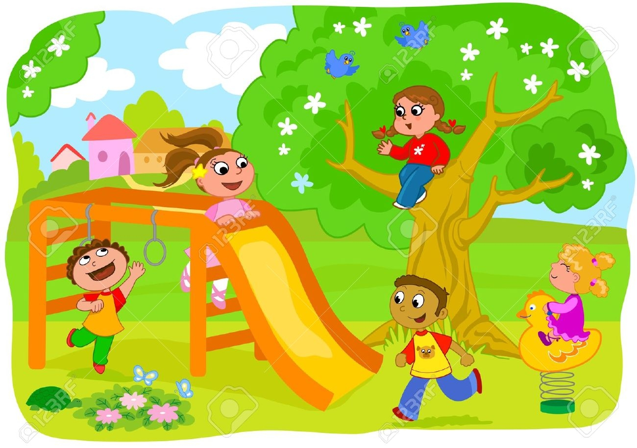 Outdoor play coloring pages. Outside clipart