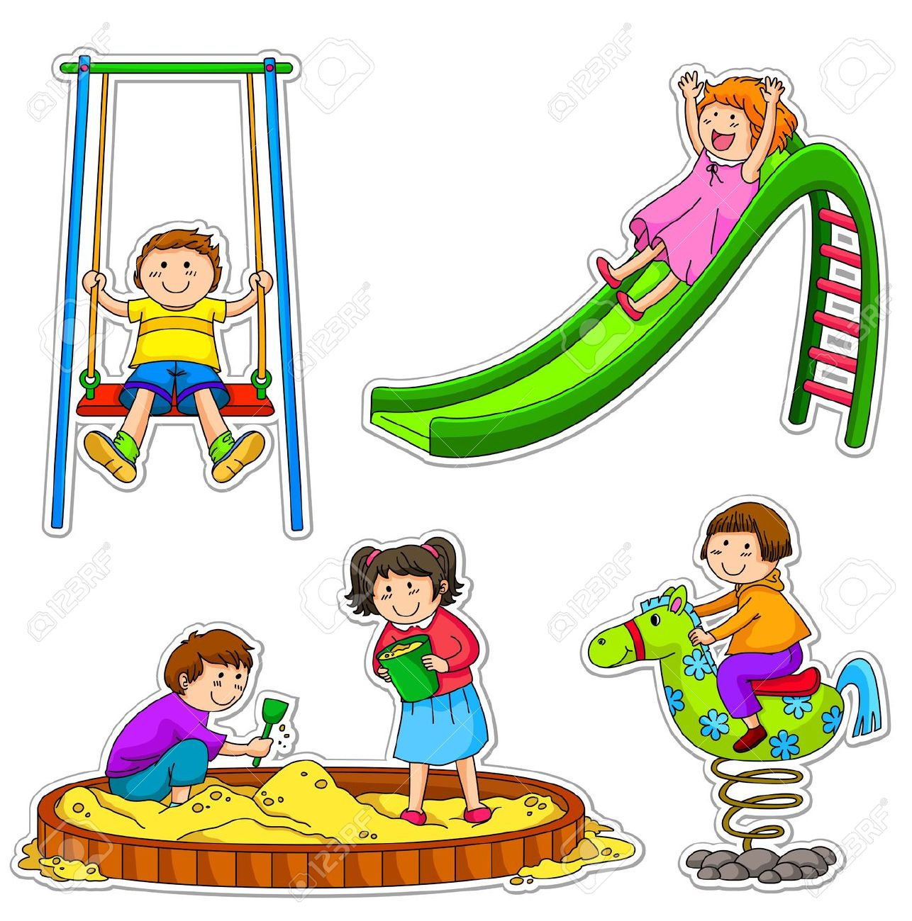 Outside clipart childrens park. Play free download best