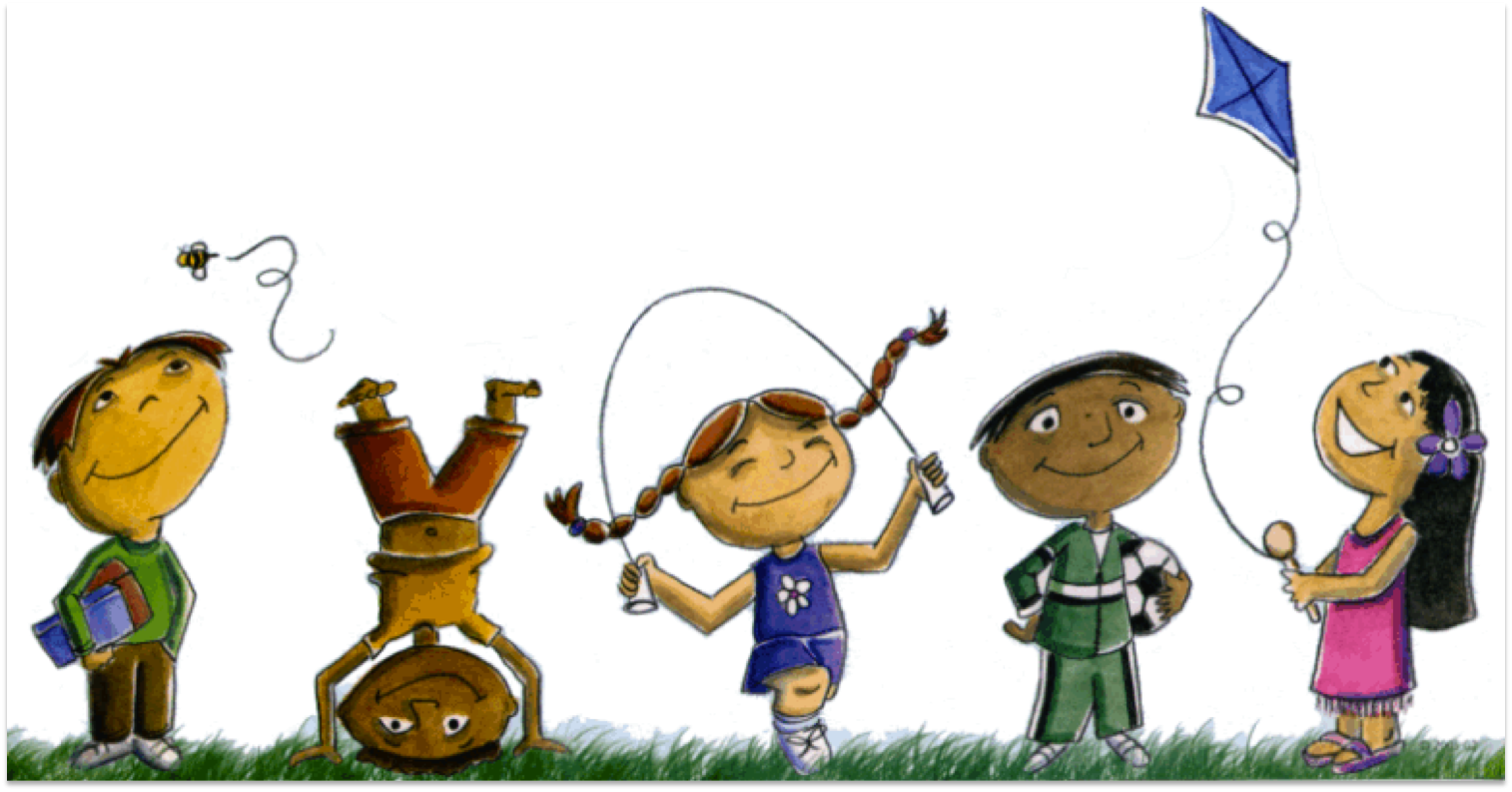 Outside clipart children's. Free outdoor play cliparts