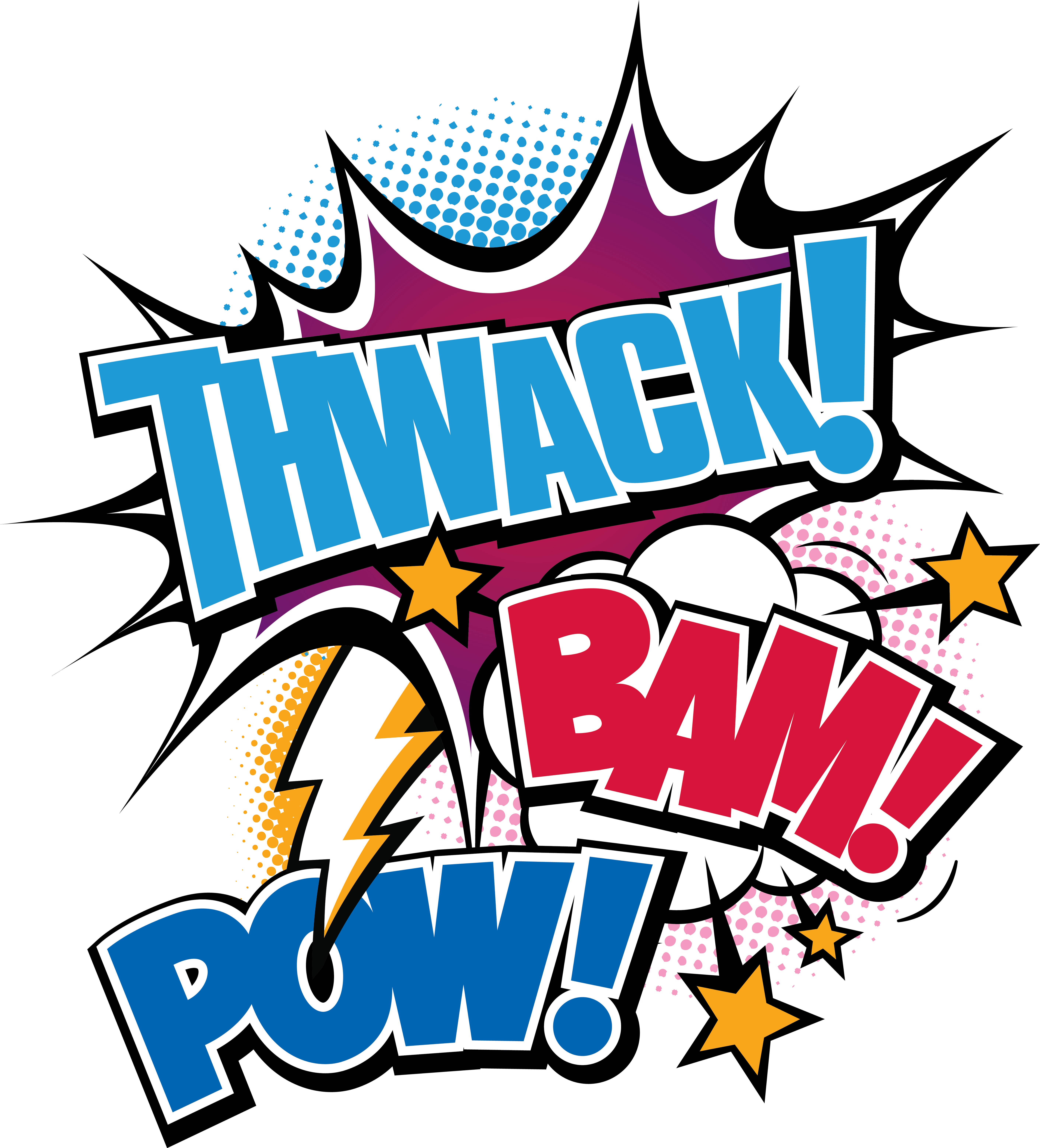 Outside clipart outdoor playtime. Twack bam pow color