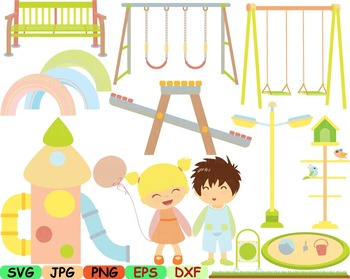 Kids at svg play. Park clipart outside playground