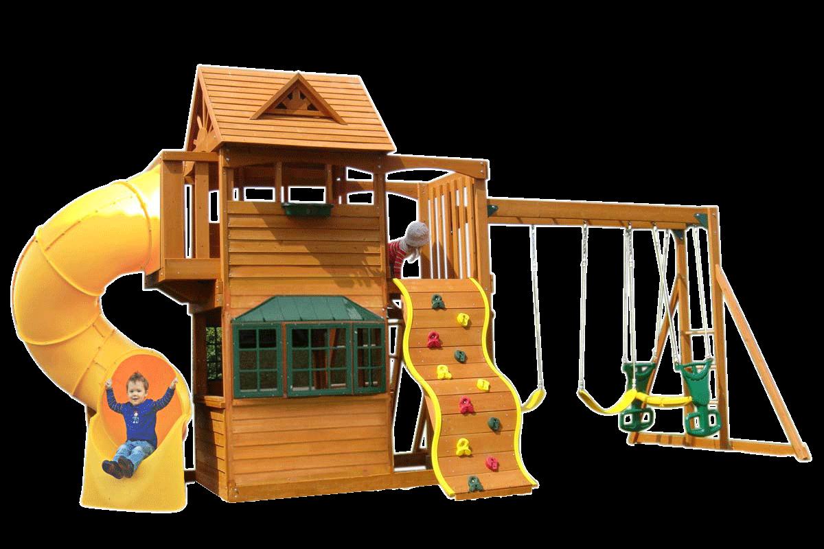Playground clipart spiral slide. Sandpoint deluxe climbing frame