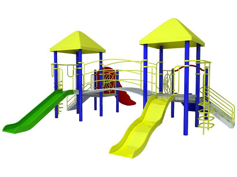 Children outdoor kids slide. Outside clipart playground