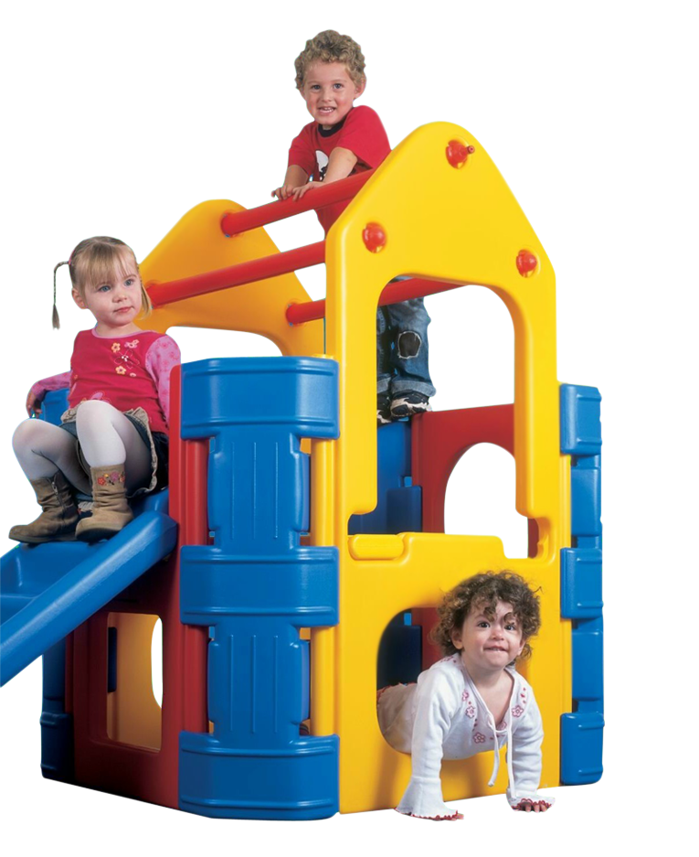 Plastic kids outdoor play. Outside clipart playground equipment