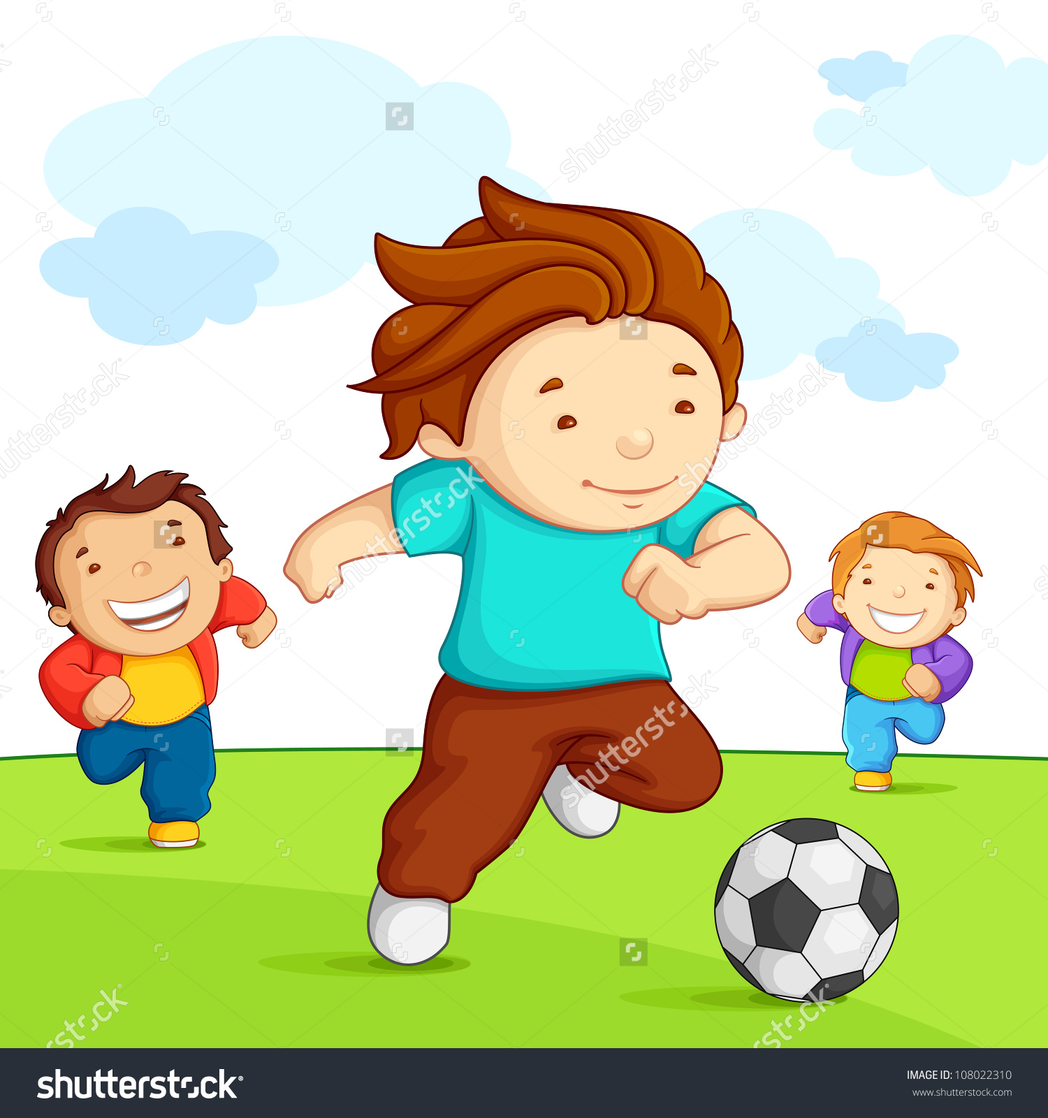 Outside clipart playing. Children station