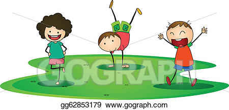 outside clipart playing