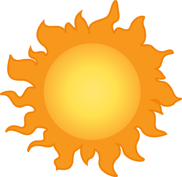 Pictures of weather free. Sunny clipart orange