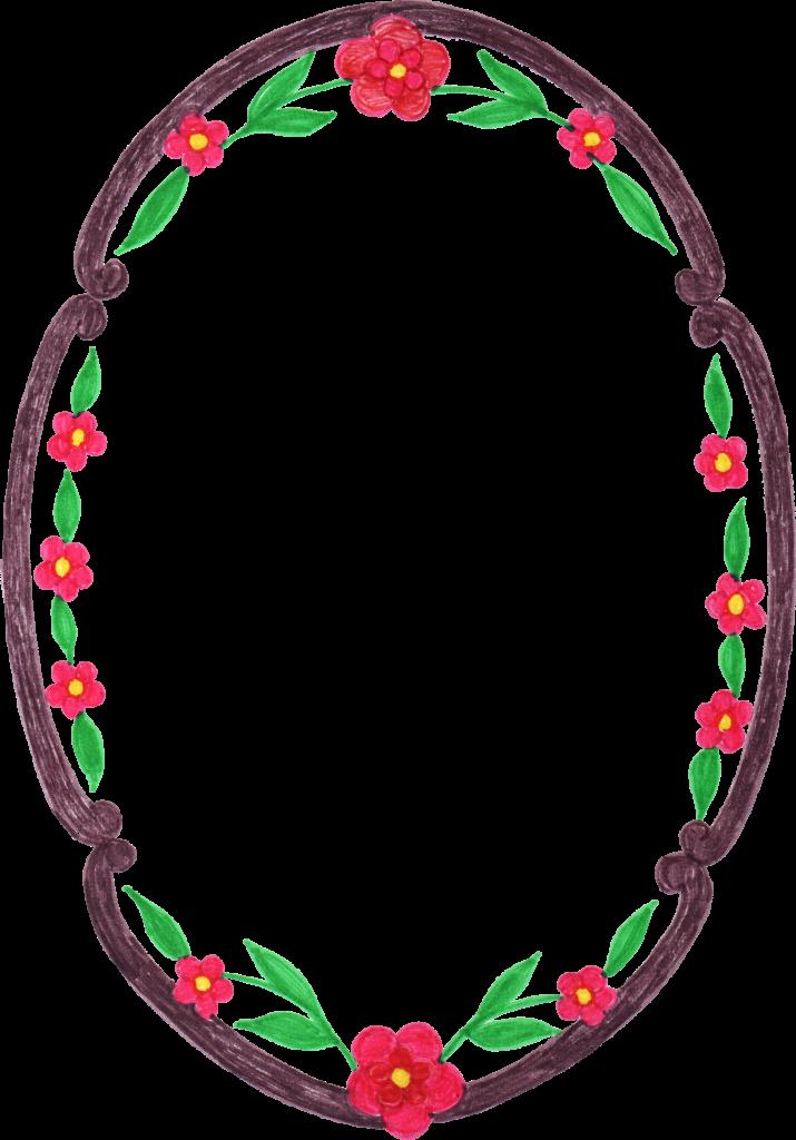 Oval border png. Flower frame transparent jpg