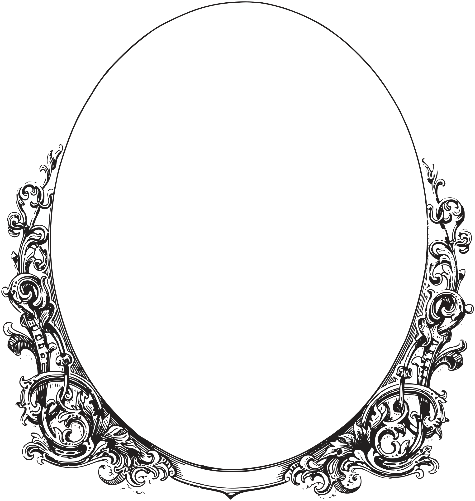 Royalty free images ornate. Oval border png