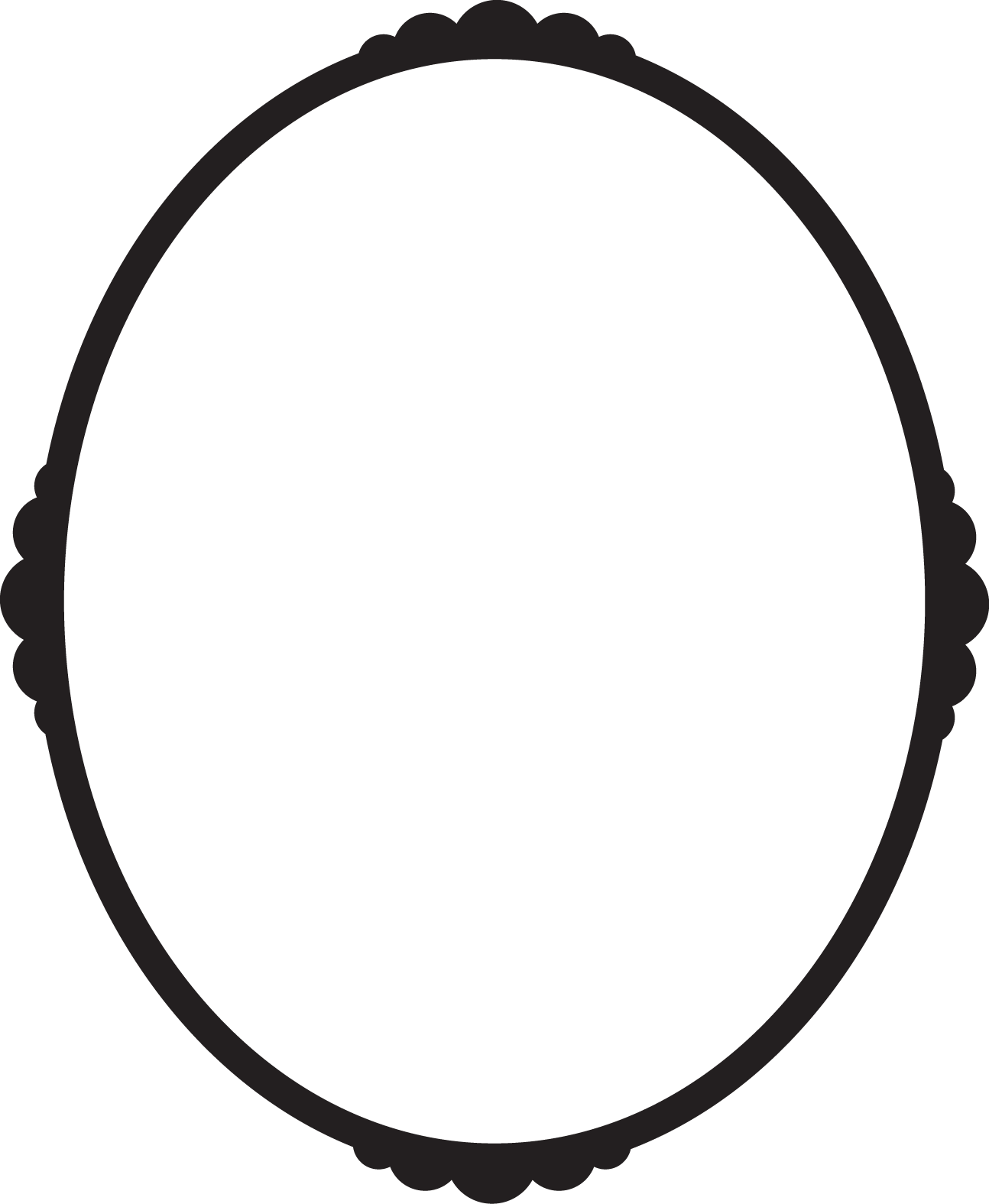 Oval picture frame png.  for free download
