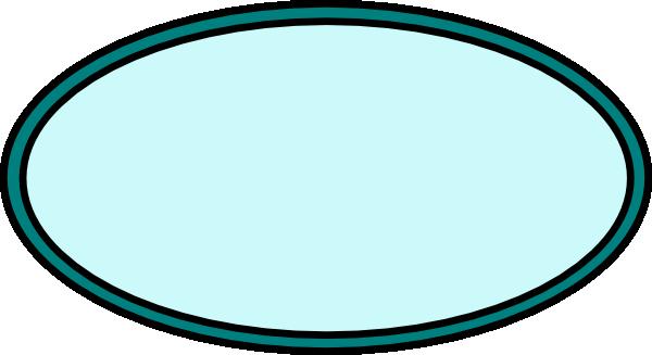 Aqua clip art at. Oval clipart