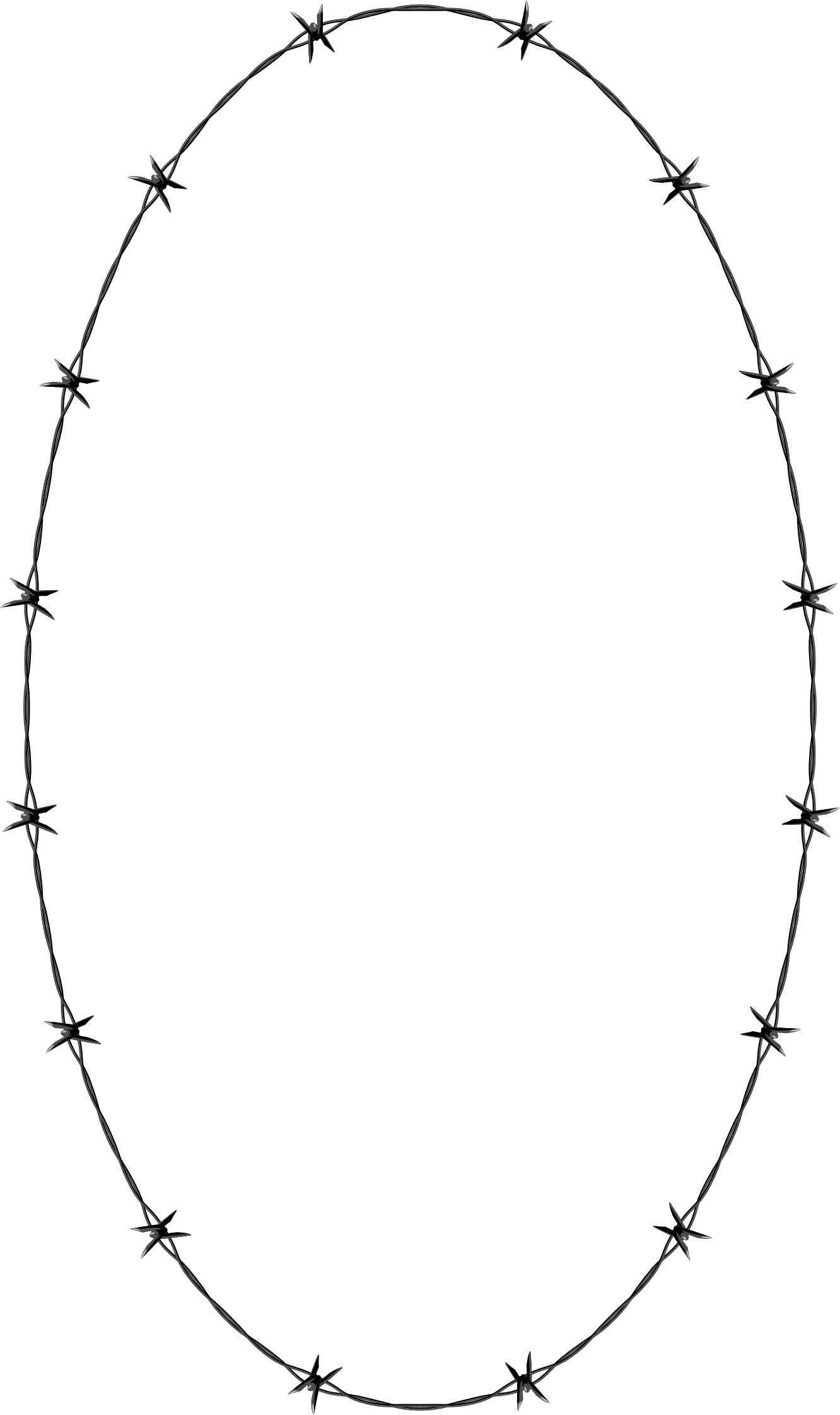 Barbed wire frame border. Oval clipart ellipse