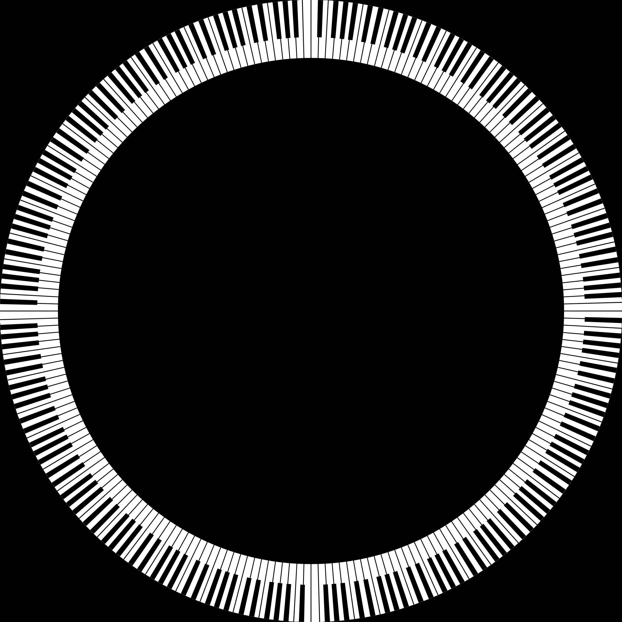 Piano keys circle medium. Oval clipart ellipse