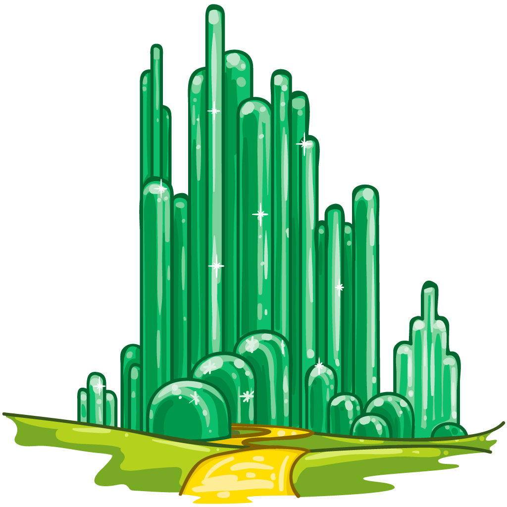 Poppy clipart wizard oz. Emerald city as cactii