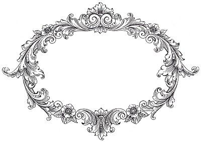 and ornate updated. Oval clipart fancy oval frame