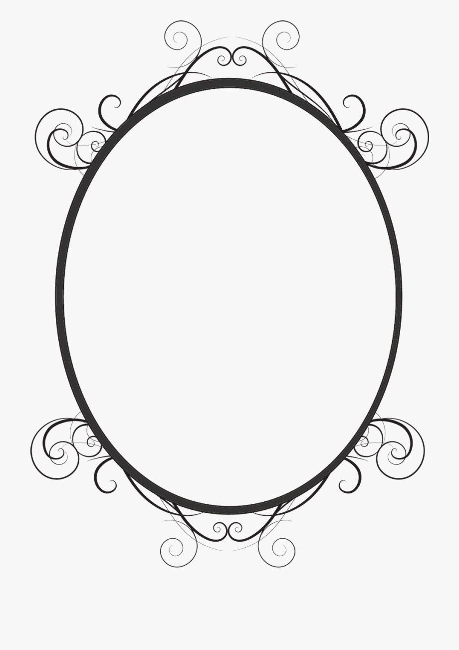 Oval clipart fancy oval frame. Black png free cliparts