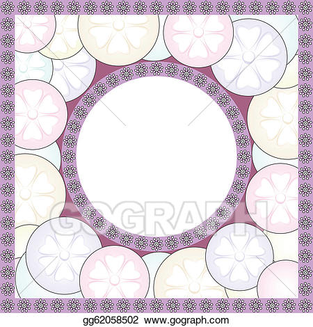 Oval clipart fancy oval frame. Vector illustration eps